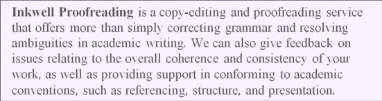 Inkwell Proofreading is